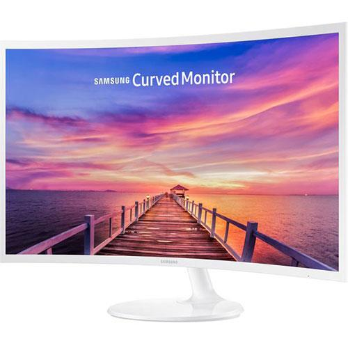 32-inch Curved Full HD Monitor in White LC32F391FWUXEN - Ex Display Product Image (Secondary Image 1)