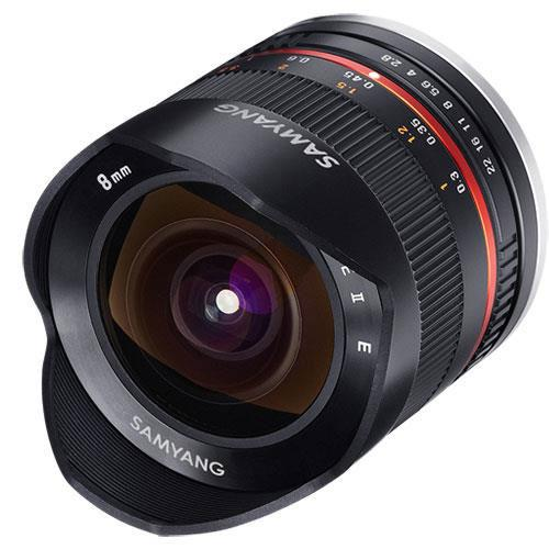8mm f2.8 UMC Fish-eye II Lens in Black - Fujifilm X Mount Product Image (Secondary Image 1)