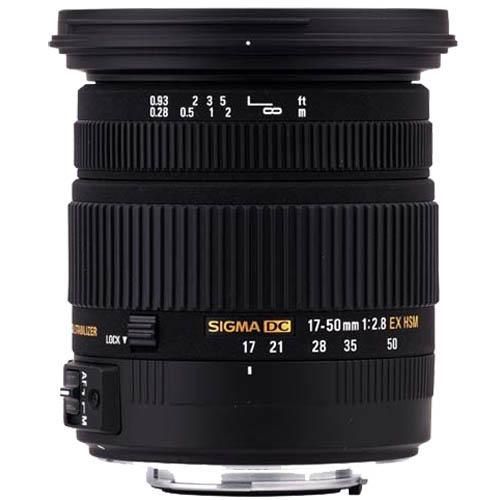 17-50mm f2.8 EX DC OS Lens - Canon EF-S Product Image (Primary)