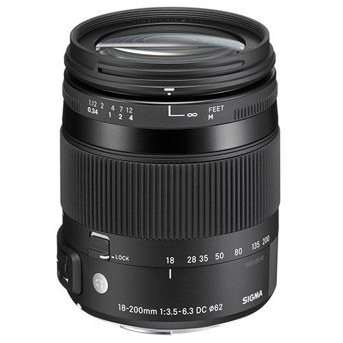 18-200mm f/3.5-6.3 DC Macro OS HSM Lens - Sony Fit Product Image (Primary)