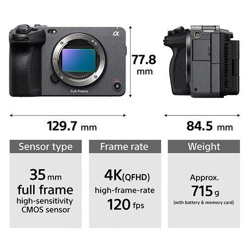 FX3 Full Frame Cinema Camera Product Image (Secondary Image 4)