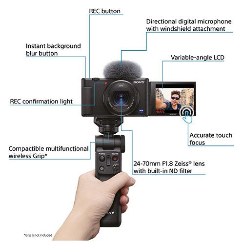 ZV-1 Compact Vlogger Camera Product Image (Secondary Image 7)