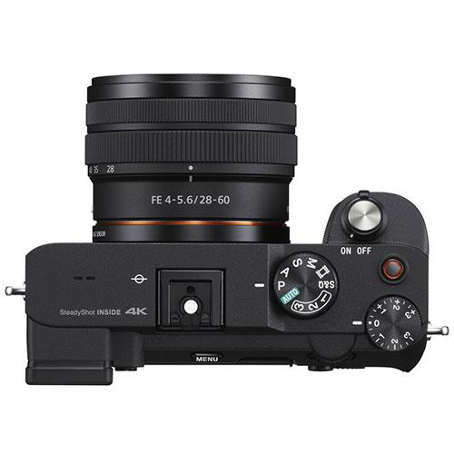 a7C Mirrorless Camera in Black with FE 28-60mm F4-5.6 Lens Product Image (Secondary Image 4)