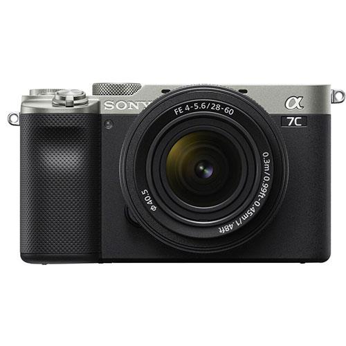 a7C Mirrorless Camera in Silver with FE 28-60mm F4-5.6 Lens Product Image (Primary)