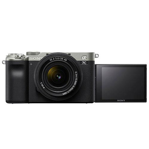 a7C Mirrorless Camera in Silver with FE 28-60mm F4-5.6 Lens Product Image (Secondary Image 1)