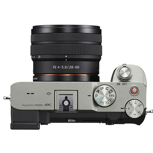 a7C Mirrorless Camera in Silver with FE 28-60mm F4-5.6 Lens Product Image (Secondary Image 4)