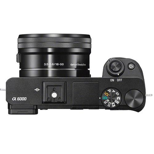 Sony A6000 Mirrorless Camera In Black With 16 50mm Power Zoom Lens