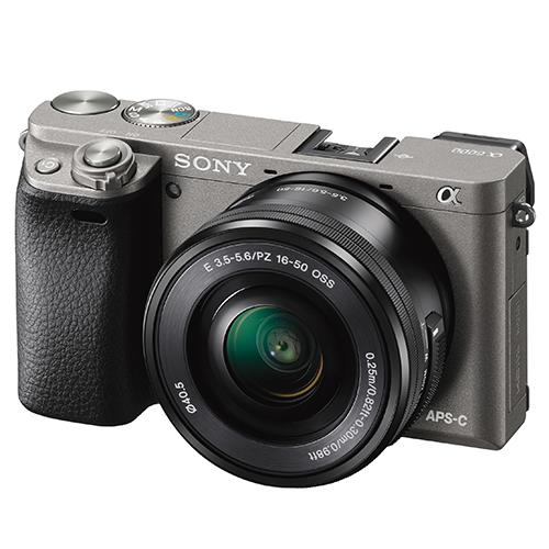 A6000 Mirrorless Camera in Grey + 16-50mm Power Zoom Lens Product Image (Secondary Image 1)