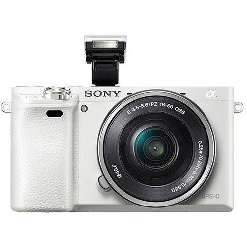 A6000 Mirrorless Camera in White with 16-50mm Power Zoom Lens Product Image (Secondary Image 2)