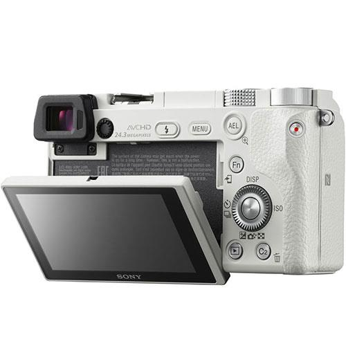 A6000 Mirrorless Camera in White with 16-50mm Power Zoom Lens Product Image (Secondary Image 4)