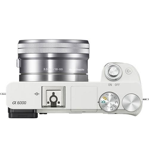 A6000 Mirrorless Camera in White with 16-50mm Power Zoom Lens Product Image (Secondary Image 5)