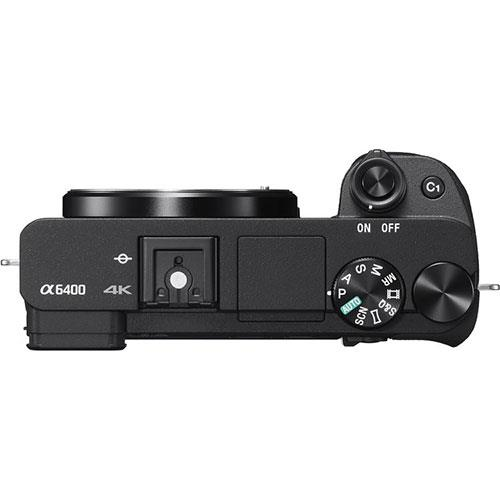 A6400 Mirrorless Camera Body in Black Product Image (Secondary Image 5)