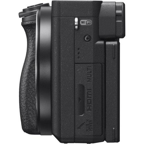 A6400 Mirrorless Camera Body in Black Product Image (Secondary Image 6)
