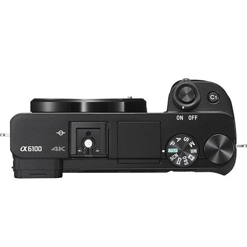 A6100 Mirrorless Camera Body in Black Product Image (Secondary Image 3)