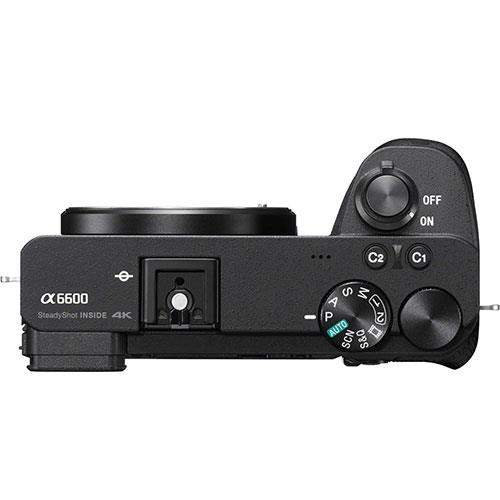 A6600 Mirrorless Camera Body in Black Product Image (Secondary Image 5)