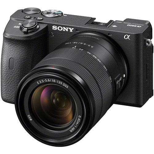 A6600 Mirrorless Camera in Black with 18-135mm f/3.5-5.6 OSS Lens Product Image (Primary)