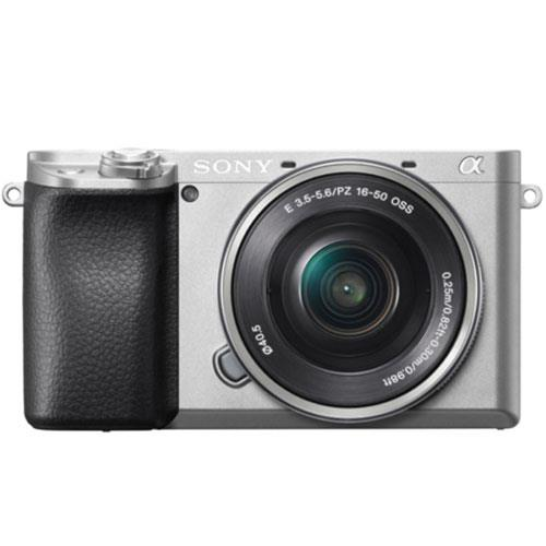A6100 Mirrorless Camera in Silver with 16-50mm f/3.5-5.6 OSS Lens Product Image (Primary)