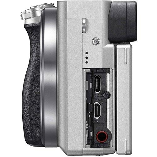 A6100 Mirrorless Camera in Silver with 16-50mm f/3.5-5.6 OSS Lens Product Image (Secondary Image 3)