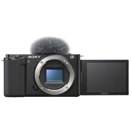 ZV-E10 Mirrorless Vlogger Camera Body in Black Product Image (Primary)