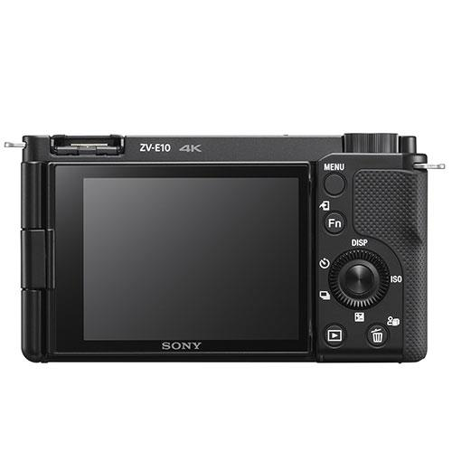 ZV-E10 Mirrorless Vlogger Camera Body in Black Product Image (Secondary Image 1)