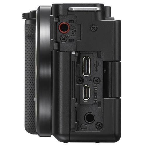 ZV-E10 Mirrorless Vlogger Camera Body in Black Product Image (Secondary Image 3)