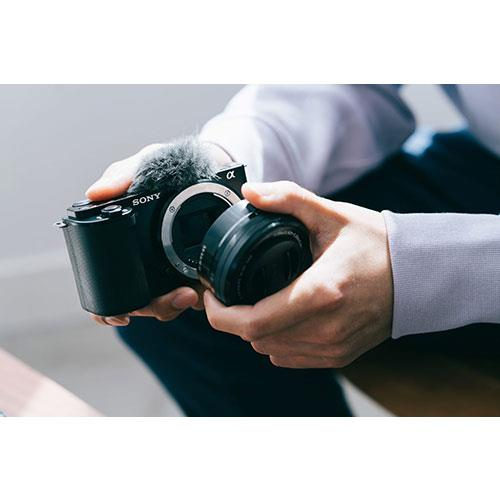 ZV-E10 Mirrorless Vlogger Camera Body in Black Product Image (Secondary Image 5)