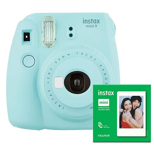 mini 9 Instant Camera in Ice Blue with 10 Shots and 50 Shot Pack Product Image (Primary)