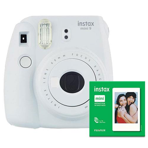 mini 9 Instant Camera in White with 10 Shots and 50 Shot Pack Product Image (Primary)