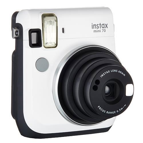 Mini 70 Instant Camera in White with 10 Shots Plus Instax Mini Colour Film 20 Shots Product Image (Secondary Image 2)