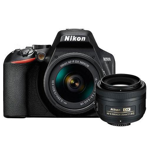 D3500 Digital SLR with 18-55mm Lens and AF-S 35mm f/1.8G DX Lens Product Image (Primary)