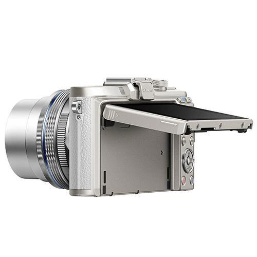 PEN E-PL8 Mirrorless Camera in White with 14-42mm EZ Lens Blogger Kit Product Image (Secondary Image 2)
