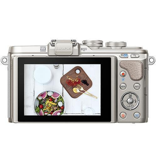 PEN E-PL8 Mirrorless Camera in White with 14-42mm EZ Lens Blogger Kit Product Image (Secondary Image 1)