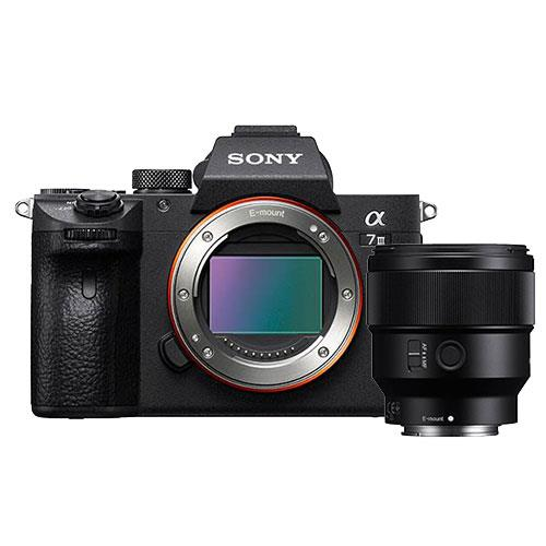 A7 III Mirrorless Camera Body with FE 85mm f/1.8 Lens Product Image (Primary)