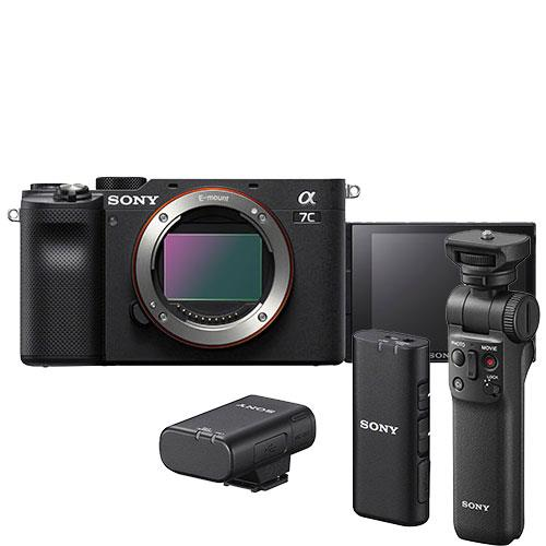 a7C Mirrorless Camera Body in Black Creator Kit Product Image (Primary)