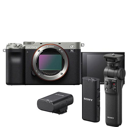 a7C Mirrorless Camera Body in Silver Creator Kit Product Image (Primary)