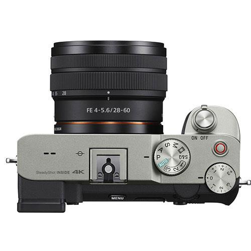 a7C Mirrorless Camera in Silver with FE 28-60mm Lens Creator Kit Product Image (Secondary Image 4)