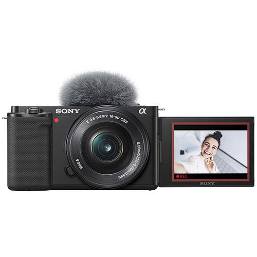 ZV-E10 Mirrorless Vlogger Camera with 16-50mm Lens Creator Kit and Sony 10-18mm Lens Product Image (Secondary Image 1)
