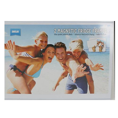 6x4-inch Fridge Magnet Photo Frame Clear 2 Pack Product Image (Primary)