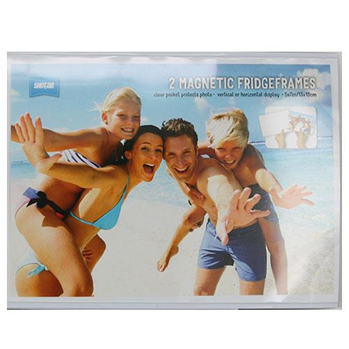 7x5-inch Fridge Magnet Photo Frame Clear 2 Pack Product Image (Primary)