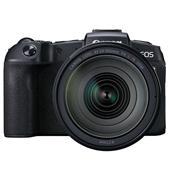 A picture of Canon EOS RP Mirrorless Camera with RF 24-105mm f/4 L IS USM Lens and Mount Adapter