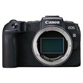 A picture of Canon EOS RP Camera Body with EF 24-105mm STM Lens and Lens Mount Adapter