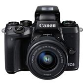 A picture of Canon EOS M5 Mirrorless Camera in Black with EF-M 15-45mm f/3.5-6.3 IS STM Lens