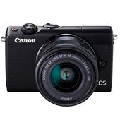 A picture of Canon EOS M100 Mirrorless Camera in Black Limited Edition with 15-45mm IS STM Lens