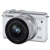 A picture of Canon EOS M200 Mirrorless Camera in White with EF-M 15-45mm Lens