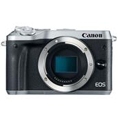 A picture of Canon EOS M6 Mirrorless Camera Body in Silver - Ex Display
