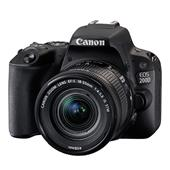 A picture of Canon EOS 200D DSLR in Black with 18-55mm f/4-5.6 IS STM Lens