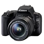 A picture of Canon EOS 200D DSLR in Black with 18-55mm f/3-5-5-6 III DC Lens