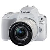 A picture of Canon EOS 200D DSLR in White with 18-55mm f/4-5.6 IS STM Lens