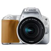 A picture of Canon EOS 200D DSLR in Silver with 18-55mm f/4-5.6 IS STM Lens