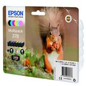A picture of Epson Squirrel Multipack 6-colours 378 Claria Photo HD Ink